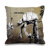 Banksy I Am Your Father Faux Silk 45cm x 45cm Sofa Cushion