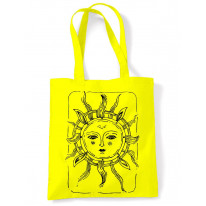 Sun Design Large Print Tote Shoulder Shopping Bag