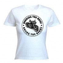Bending The Rules, Ruling The Bends Biker Women's T-Shirt