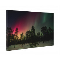 Northern Lights Woodland Box Canvas Print Wall Art - Choice of Sizes