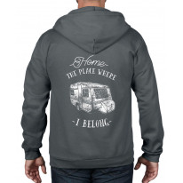 The Place Where I Belong Caravan Camping Full Zip Hoodie