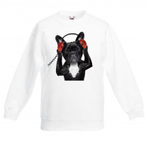 French Bulldog DJ Children's Unisex Sweatshirt Jumper