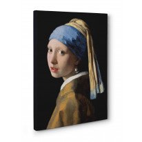 Johannes Vermeer Girl with Pearl Earring Box Canvas Print Wall Art - Choice of Sizes