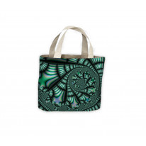 Fractal Spiral Green Tote Shopping Bag For Life