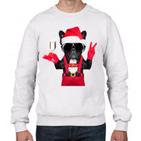 French Bulldog Santa Claus Style Father Christmas Men's Sweater \ Jumper