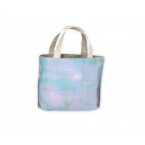 Pastel Square Blue Tote Shopping Bag For Life