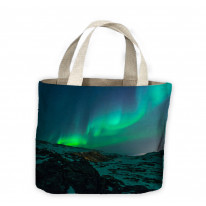 Northern Lights Mountains Tote Shopping Bag For Life
