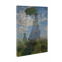 Claude Monet Madame Monet With Parasol Canvas Print Wall Art - Choice Of Sizes