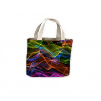 Colour Waves Tote Shopping Bag For Life