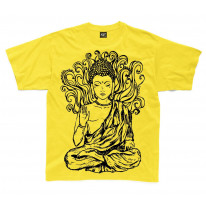 Buddha Design Large Print Kids Children's T-Shirt