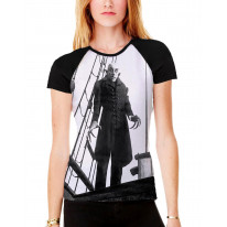 Nosferatu the Vampire Ship Women's All Over Graphic Contrast Baseball T Shirt