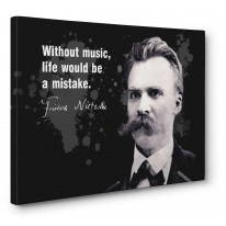 Friedrich Nietzsche Music Quote Canvas Print Wall Art - Choice Of Sizes