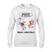 Santa Claus My Baubles Funny Christmas Women's Jumper \ Sweater