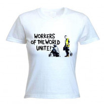 Banksy Workers Of The World Unite Womens T-Shirt