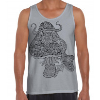 Magic Mushrooms Large Print Men's Vest Tank Top