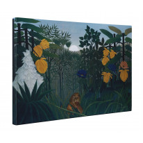 Henri Rousseau Repast Of The Lion Canvas Print Wall Art - Choice Of Sizes