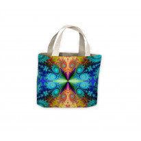 Psychedelic Fractal Colours Pattern Tote Shopping Bag For Life
