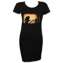 Nosferatu The Vampire Sihouette Short Sleeve T-Shirt Dress