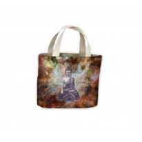 Tibetan Buddha Mandala Pattern Tote Shopping Bag For Life