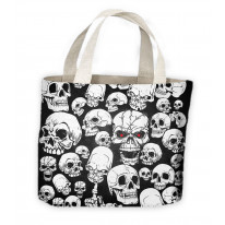 Skull Garden Skeleton Tote Shopping Bag For Life
