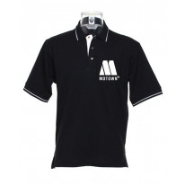 Motown Logo Tipped Polo T-Shirt