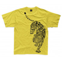 Tribal Tiger Tattoo Large Print Kids Children's T-Shirt