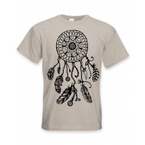 Dreamcatcher Native American Hipster Large Print Men's T-Shirt