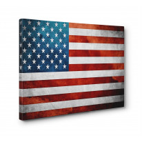 Stars and Stripes Box Canvas Print Wall Art - Choice of Sizes