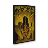 Metropolis Poster Box Canvas Print Wall Art - Choice of Sizes