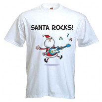 Santa Rocks Men's T-Shirt
