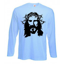 Jesus Stencil Long Sleeve T-Shirt