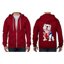 British Bulldog Union Jack Full Zip Hoodie