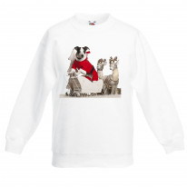 Jack Russell Dog Santa Claus Christmas Kids Jumper \ Sweater