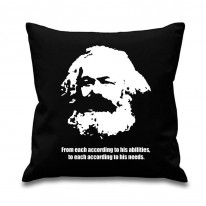 Karl Marx Quote Scatter Cushion