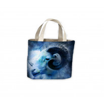 Goats Head Under Moonlight Tote Shopping Bag For Life