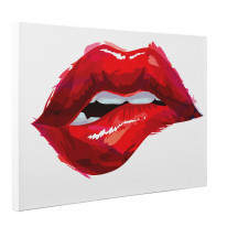 Sexy Lips Painting Box Canvas Print Wall Art - Choice of Sizes