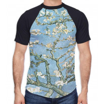 Van Gogh Almond Blossom Men's All Over Graphic Contrast Baseball T Shirt