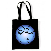 Full Moon & Bats Halloween Shoulder Bag
