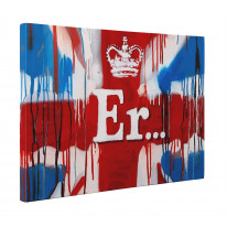 Banksy ER Box Canvas Print Wall Art - Choice of Sizes