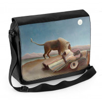 Henri Rousseau Sleeping Gypsy Under The Moon Laptop Messenger Bag