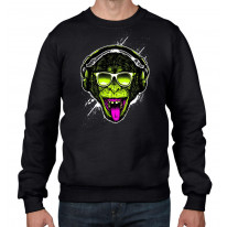 Funky Monkey DJ Men's Sweatshirt Jumper