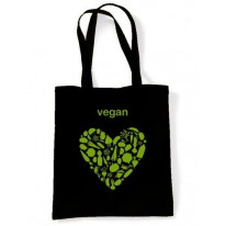 Vegan Heart Logo Shoulder Bag