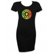 Jah is Mighty Lion of Judah Reggae Women's T-shirt Dress