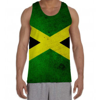 Jamaican Flag Men's All Over Graphic Vest Tank Top