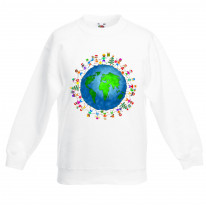 Christmas World Planet Earth Kids Sweater \ Jumper