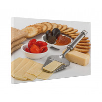 Cheese Crackers and Relish Box Canvas Print Wall Art - Choice of Sizes