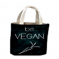 Be Vegan Tote Shopping Bag For Life
