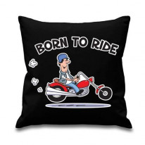Born To Ride Biker Cushion