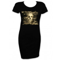 Smoke Skull Short Sleeve T-Shirt Dress