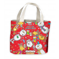 Let's Get Christmessy Funny Christmas Tote Shopping Bag For Life